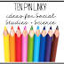 Ten Pin Linky: Science and Social Studies Pins