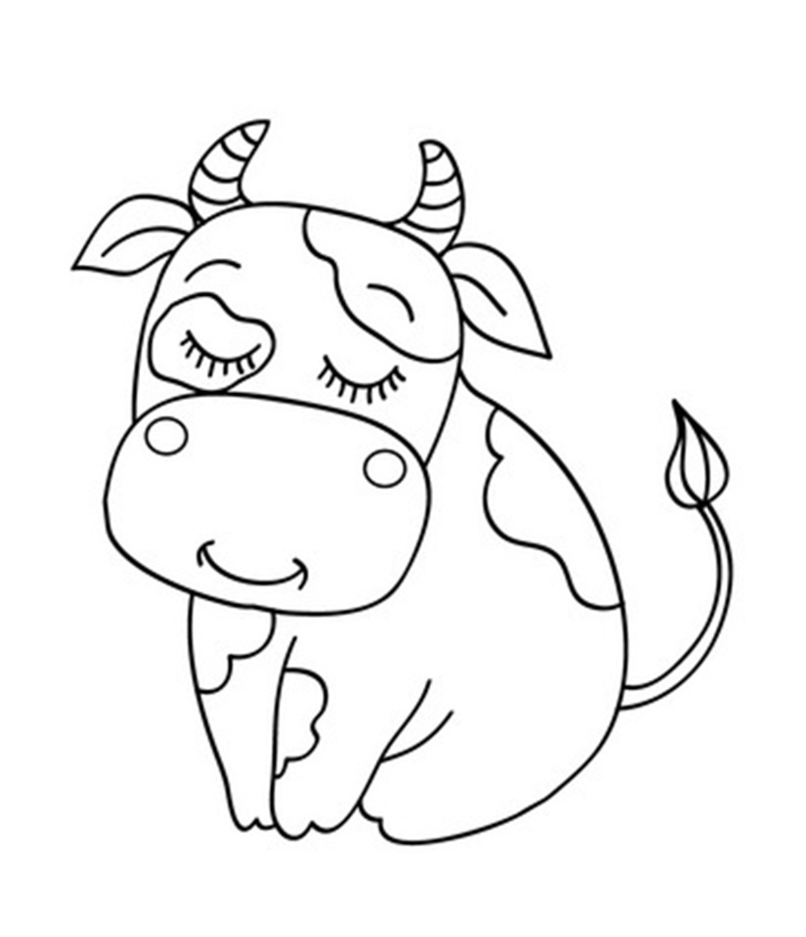moo moo brown cow coloring pages