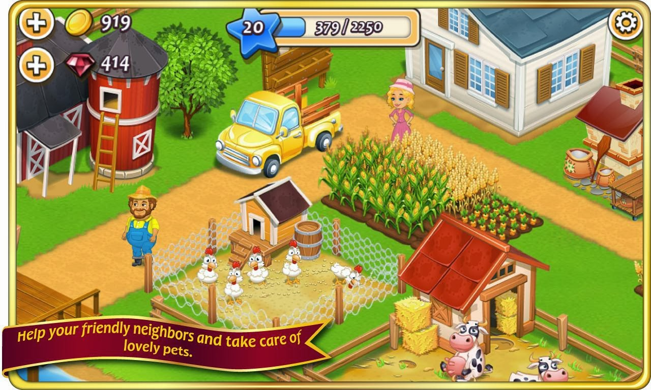 Farm Town Mod Apk V1 33 Unlimited Golds And Diamonds