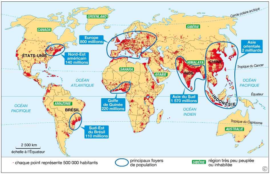Carte Des Grand Foyer De Peuplement : Me gustan las sociales la population población curso