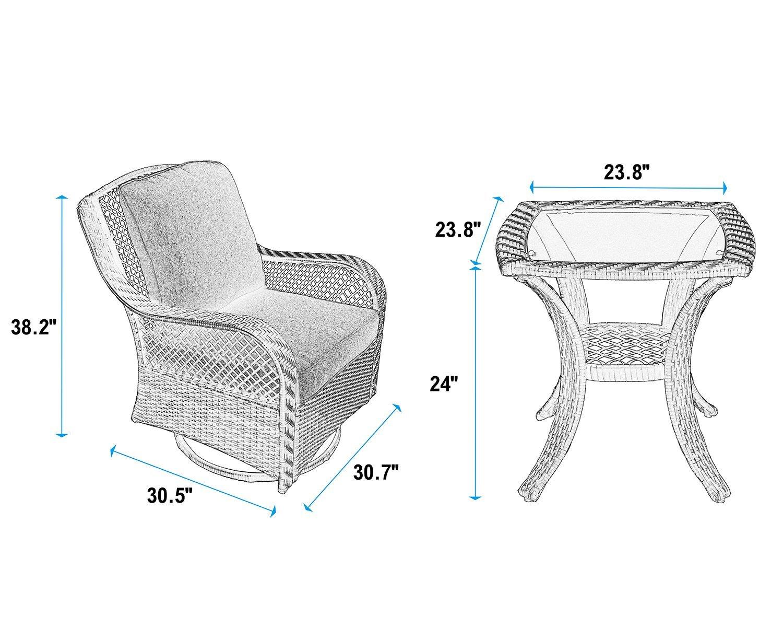 Luxury Furniture Review: PHI VILLA Patio/ Outdoor 3-Piece