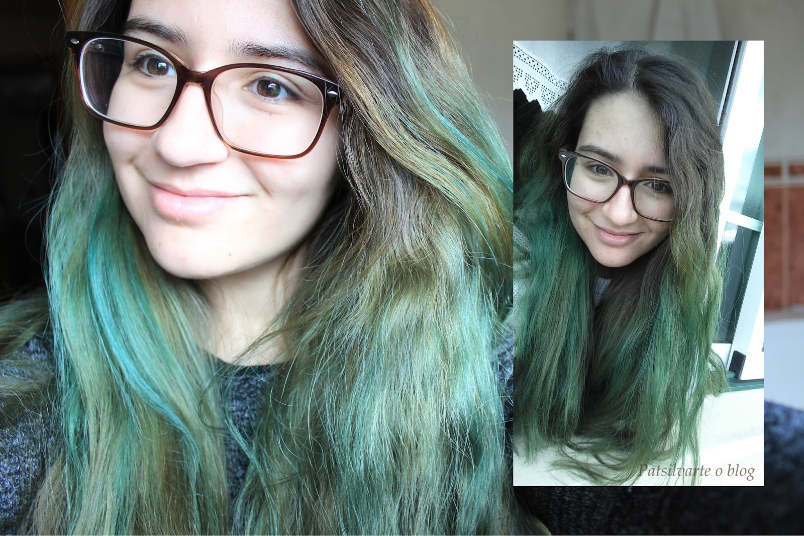 Colorista Loreal Turquoise hair