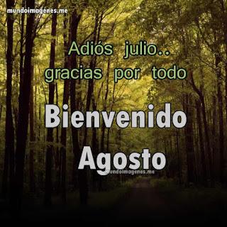 Imagenes Para Facebook Adios Julio Bienvenido Agosto