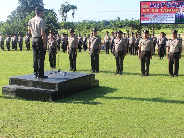 2 Perwira, 38 Brigadir di Polres Abdya Naik Pangkat