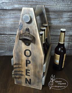 ящик для пива винтаж с открывашкой
