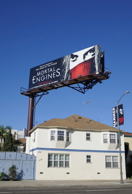 Mortal Engines film billboard