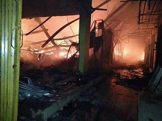 Kebakaran Melanda Pasar Wonokriyo Gombong