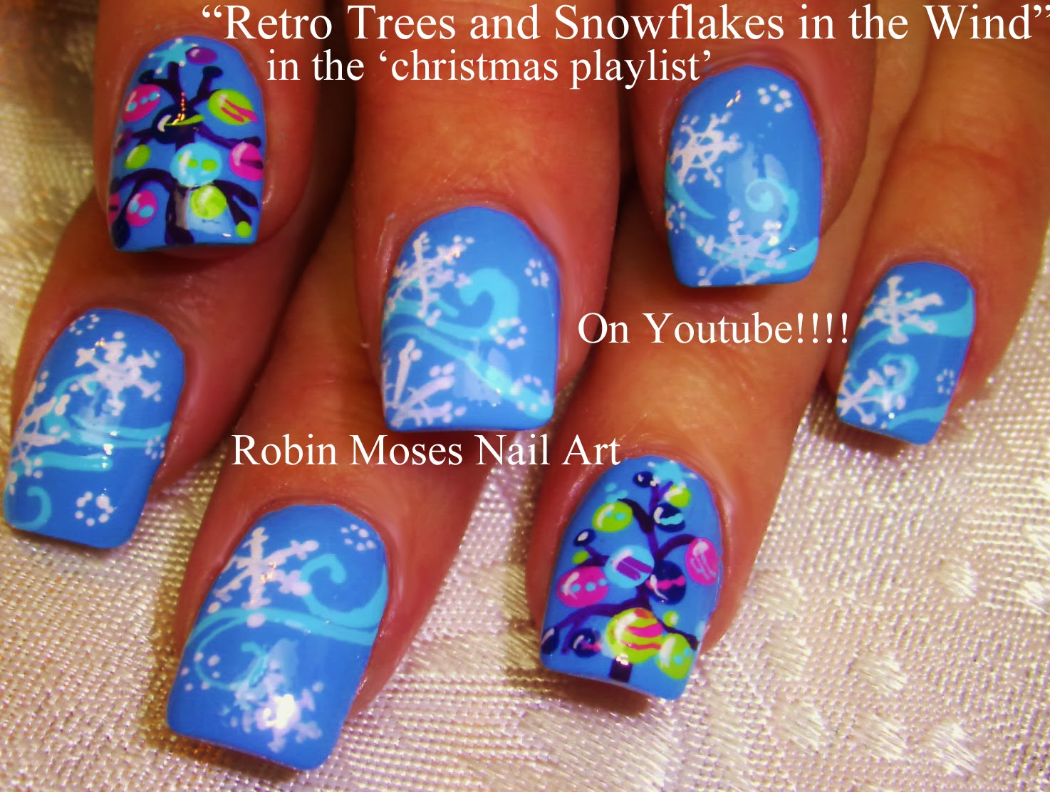 Nail Art By Robin Moses Christmas Designs Nail Art Short Nail