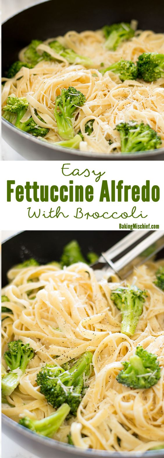 ★★★★★ 32 reviews :  Easy Fettuccine alfredo With Broccoli #fettuccine #alfredo #broccoli #easyfettuccini #veggies #vegetarian #vegetarianrecipes