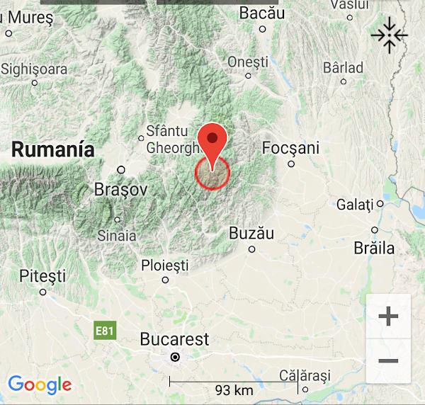 URGENTE: fuerte terremoto sacudió rumania.