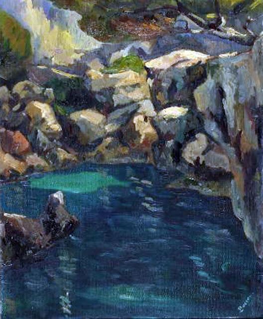 Sebastia Busquets Servera, Cala de Mallorca, Mallorca en Pintura, Mallorca pintada, Paisajes de Mallorca