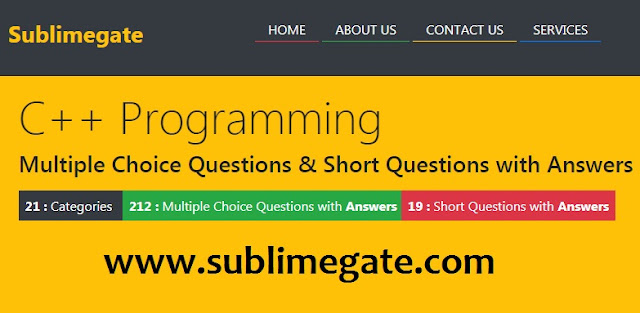 C++ Multiple Choice Questions and Quiz with Answers