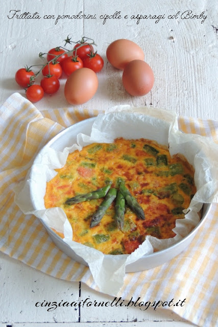 frittata asparagi e pomodorini bimby