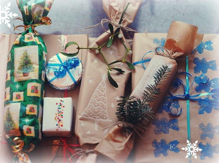 pakowanie prezentów z materiałów dostępnych w domu