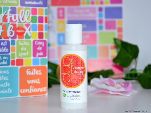 cosmétique - nettoyant visage bio - eau de fruit naturelle - pamplemousse