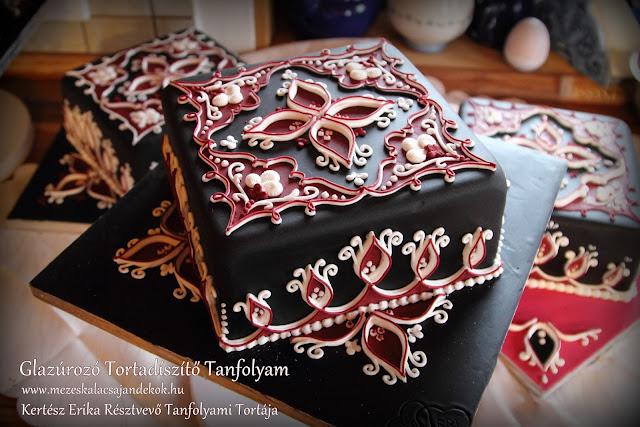 glazúrozott torta