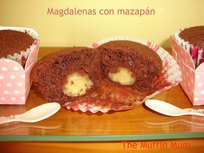 Magdalenas con mazapan