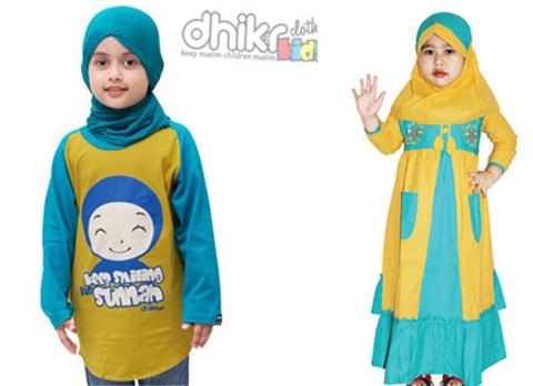baju muslim anak perempuan 2 tahun