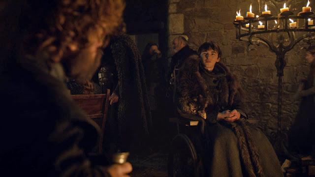 juego de tronos 8x04 tyrion habla con bran sobre el trono de Invernalia