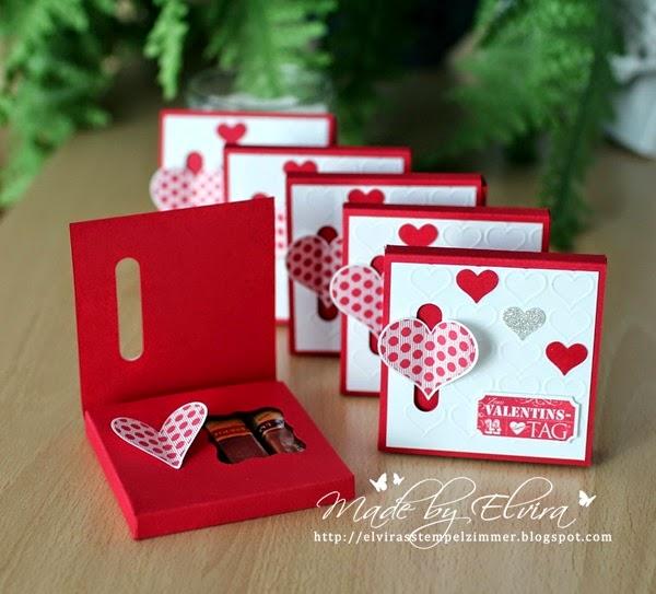 Kleine Überraschung zum Valentinstag mit Produkten von Stampin Up Österreich