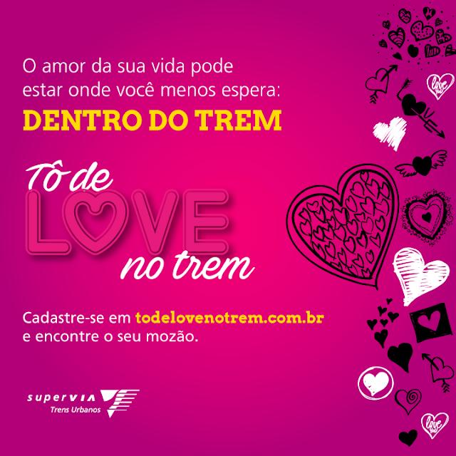 """SuperVia lança campanha de Dia dos Namorados """"Tô de love no trem"""""""