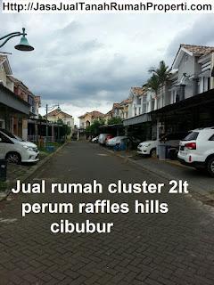 Jual rumah cluster 2lt perum raffles hills cibubur