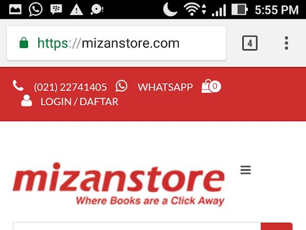 Tiga Kemudahan Belanja Buku di Toko Buku Online Mizanstore