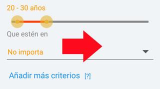 Como buscar gente cerca para Ligar en la app