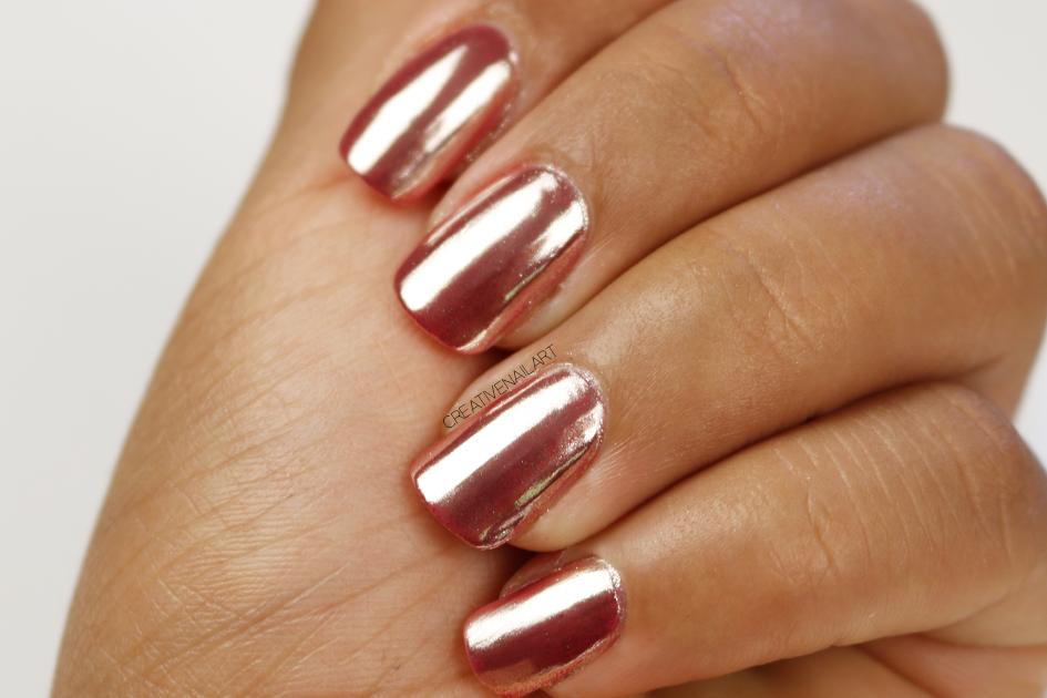 Copper Chrome Nails