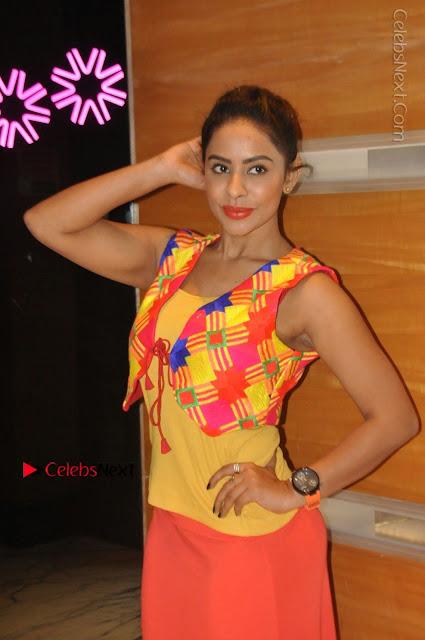 Telugu Actress Model Sri Reddy Latest Stills in Yellow Dress  0001.JPG