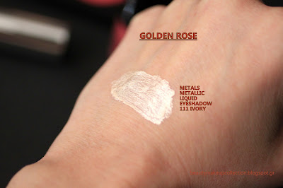 golden rose 111 ivory metallic eyeshadow