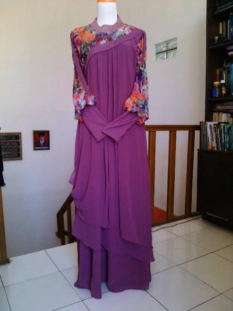 Model Gamis Syar'i Set Pashmina Elegan Untuk Pesta