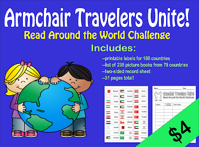 Kit: Armchair Travelers Unite! Read Around the World Challenge ($4 on TPT)