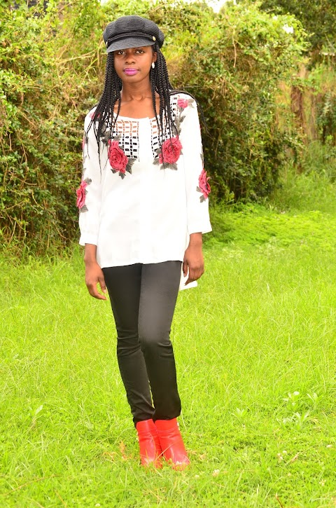 A Way To Easily Wear  A Red Ankle Boots Outfit