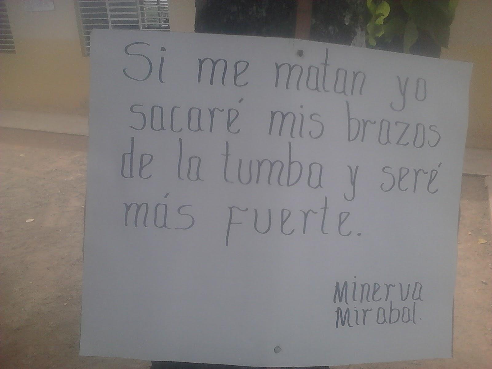 Poesia Una Frase Muy Linda De Minerva Mirabal