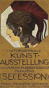 Franz Von Stuck 1863 -1928 - Manifesto del Movimento della Secessione