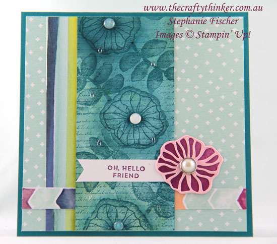 #thecraftythinker, #brushocolour, #stampinup, #cardmaking, Brusho, Oh So Eclectic, Stampin' Up! Australia Demonstrator, Sydney NSW