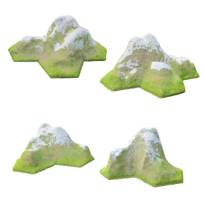 HEX-MS1/SN Mountain Set - SNOW CAPPED (3a - 3b - 4a - 4b)