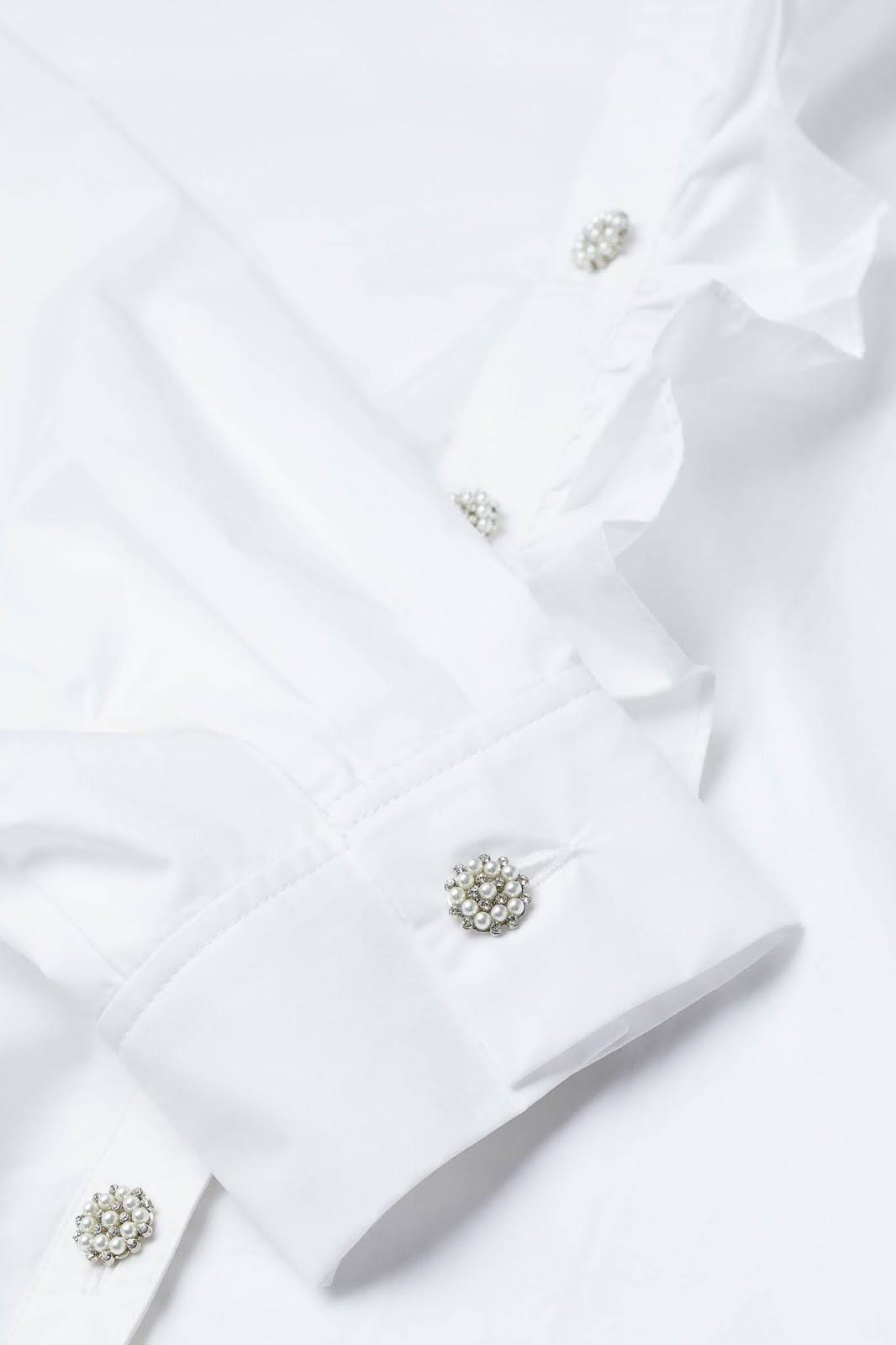rhinestone-button shirt