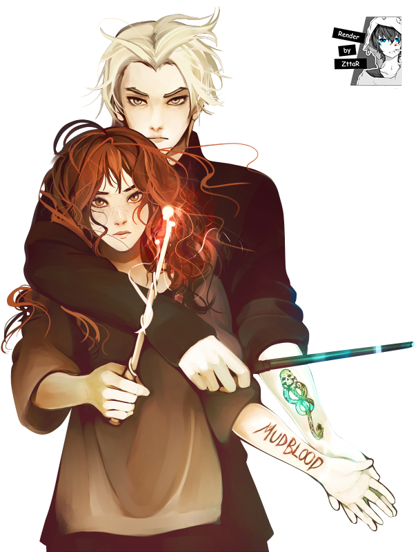 Render Draco Malfoy and Hermione Granger