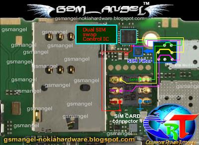 circuit diagram of 8086 microprocessor nokia c2-03 fix insert sim card problem (sim ic jumper ways) ~ mobile phone repair guides #14