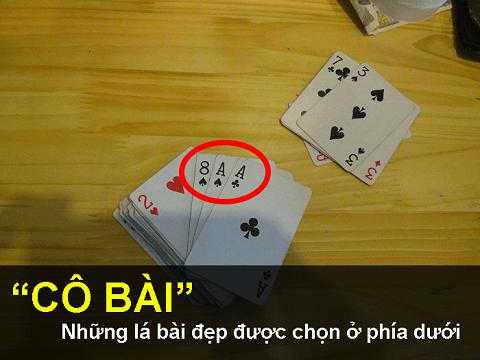 Những lá bài cần chọn sẽ được nằm dưới cuối cùng cùng của bộ bài
