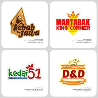 desain logo kebab, desain logo martabak, logo desain