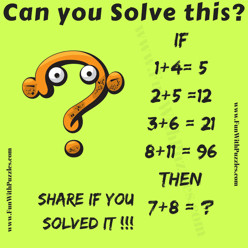 Logic Puzzle Question Math with Answer-Brain Teasers ...