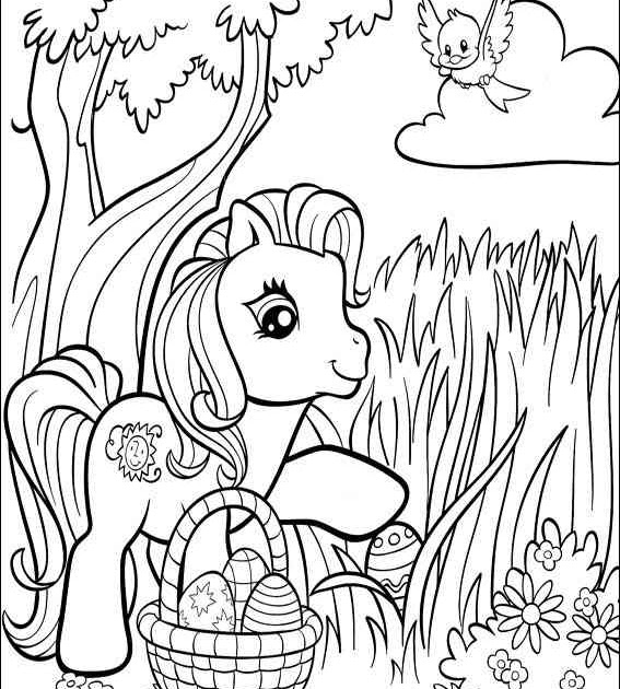 EASTER COLOURING: MY LITTLE PONY COLORING SHEET