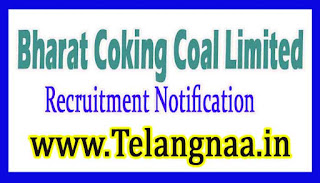 BCCL Bharat Coking Coal Limited Recruitment Notification 2017
