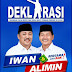 Tanggal 8 Januari 2018, Iwan-Alimin Deklarasi di Lapangan Bosowa Berlian Motor Pinrang