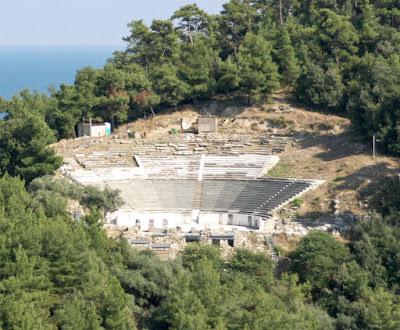 Θάσος: Νέα φάση αναστήλωσης του αρχαίου θεάτρου