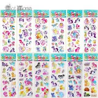 10 fogli stickers adesivi My Little Pony idea regalo gadget fine festa compleanno bambina