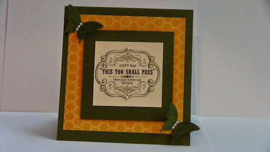 Beary Creative Crafts: This too shall pass!